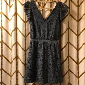 Light Blue Madewell Lace Dress